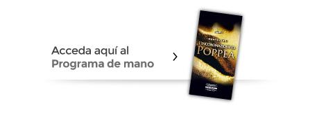 L´ INCORONAZIONE DI POPPEA PROGRAMA DE MANO
